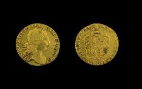 George III 22ct Gold Full Guinea - Date 1773. High Grade Coin, E.F.
