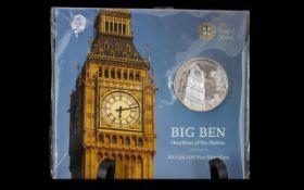 Royal Mint - United Kingdom ' Big Ben ' Pure Silver £100 Pound Coin,