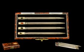 A Fine Quality Sterling Silver Bridge Pencil Set From The 1960's.