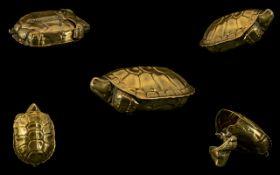 Turtle Novelty Vesta Case.
