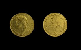 King James II of England 1685 - 1688 22ct Gold Five Guinea - Date 1688. Good Tone, Attractive & G.