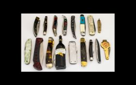 A Good Collection of Assorted Penknives,