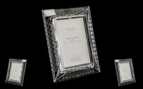 Stuart Crystal Wedding Picture Frame in original box and as new condition. 7 inches high and 5