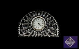 Edinburgh Crystal Clock. Edinburgh Crystal table top clock in original box, untested, please see