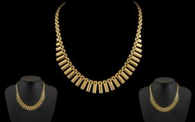 Ladies 9ct Gold Attractive Necklace In the Egyptian Design, Features a Concealed Clasp,