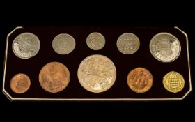 Royal Mint United Kingdom 1953 Coronation 10 Coin Specimen Set.