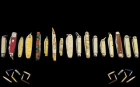 An Excellent Collection of 1930's - 1950's Small Penknives - Single and Multi-Blade of Excellent