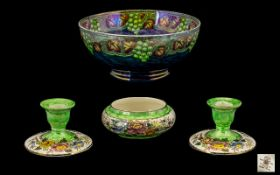 Maling 1930's - Lustre Footed Bowl ' Gra