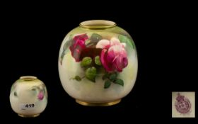 Royal Worcester Hand Painted - Small Glo
