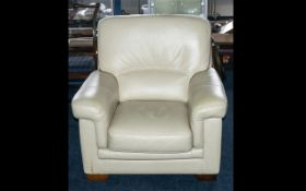 A Modern Contemporary Cream Leather Sing