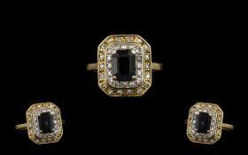 18ct Gold - Nice Quality Diamond and Sap