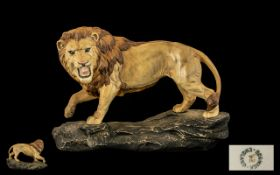 Beswick Wild Animal Figure 'Lion on a Ro