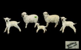 Beswick Farm Animal Figures Sheep Family