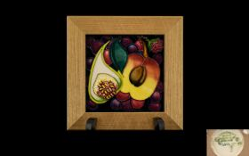 Moorcroft Tube lined Small Wall Plaque F