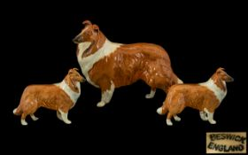 Beswick Dog Figures (3) 'Collies' Lochin