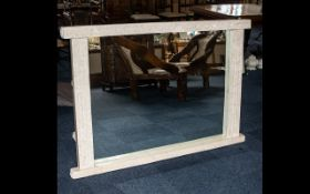Modern Marble Effect Large Mirror with a