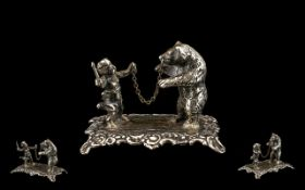 A Fine Quality Novelty Mid 19th Century Minature Figure Group,