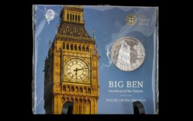 Royal Mint - United Kingdom ' Big Ben ' Pure Silver £100 Pound Coin, Still In Original Sealed
