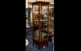 Grange French Designer Mahogany Display Cabinet.
