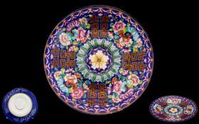 Chinese 18th Century Peking Enamel Saucer/Dish.