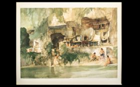 A Russel Flint Limited Edition 2001/850 Coloured Print with embossed mark to bottom left,
