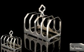 Deco Silver Toast Rack.