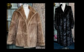 Two Ladies Fur Coats comprising 1.