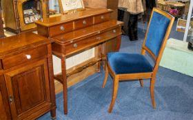 Grange French Designer Elegant Ladies Writing Desk/Dressing Table in Cherry Wood.