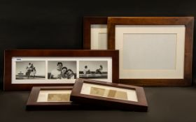 Collection of Matching Frames in Dark Wood comprising two 16.