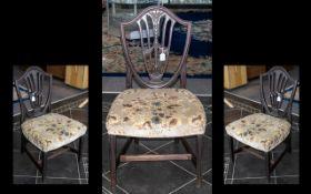 A Federal Shield Back Mahogany Side Chair c1790-1820.