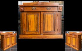 A Victorian Mahogany Chiffonier /Buffet with a single frieze drawer over twin cupboard doors