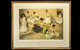 Sir Russell Flint Ltd and Numbered Edition Colour Lithograph Print of Large Proportions. Titled '