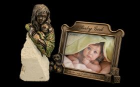 Genesis Heredities Collection Handmade Sculptures of Figurine & Picture Frame.