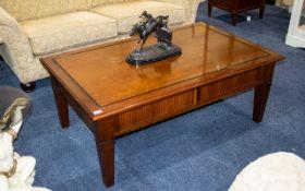 Grange French Designer Coffee Table of rectangular form.