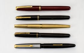 A Collection of Vintage Fountain Pens (5) in Total.