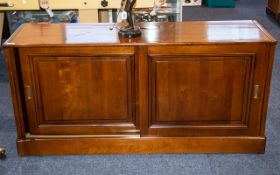 Grange French Designer TV Cabinet/Sideboard with two sliding doors opening to reveal a storage