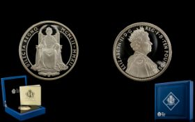 2012 Diamond Jubilee £10 Ten Pound Silver Proof 5oz Coin Box Coa.