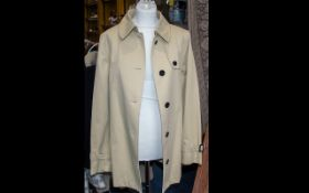 Burberry Raincoat - Beige with Traditional House Half Lining. As new.