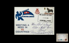 Muhammad Ali Signed 1978 Salvation Army Cover inscribed 'May God Always Bless and Help You'.