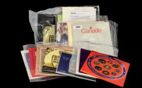 Collection of Royal Mint Coin Sets to include 1997 Year Set, emblems of Britain,
