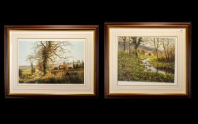 Two Signed Limited Edition Prints one entitled 'Autumn Leaves' and signed on bottom right with