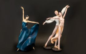 Two Art of Movement Figures - both in br