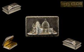 Elizabeth II Silver Pill Box with Gilt I