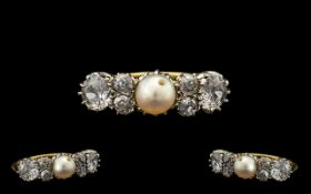 18ct Gold and Platinum Set 1920's Ladies