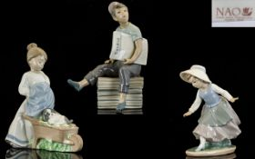 Nao by Lladro Collection of Three Figure