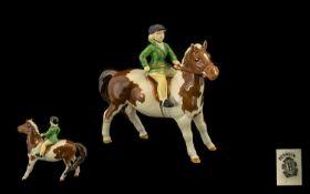 Beswick Hand Painted ' Girl on Pony ' Fi