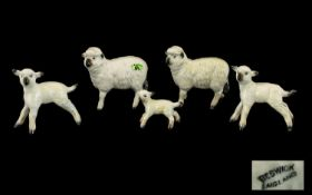 Beswick Farm Animal Figures Sheep Family