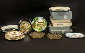 A Collection of Cabinet Plates to includ