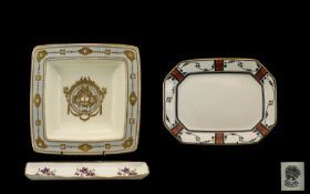 A Collection of Three Porcelain Items to