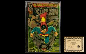Superman Comic Limited Edition Signed by